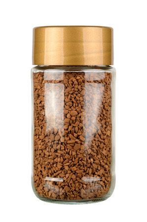 Instant coffee jar isolated on white background. With clipping path 版權商用圖片