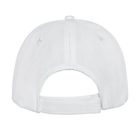 Empty clear baseball cap back view isolated on white background Stok Fotoğraf
