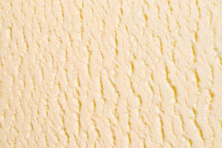 Vanilla white ice-cream texture or background. Top view. Macro shot