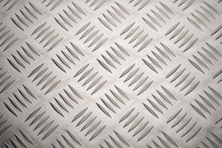 Anti slip aluminum metal plate with diamond pattern texture or background
