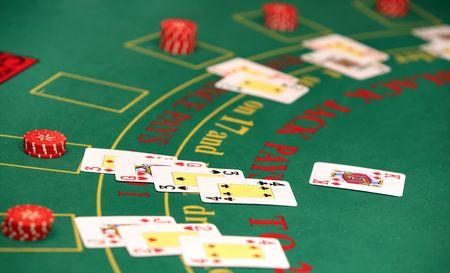 Black jack in casino photo