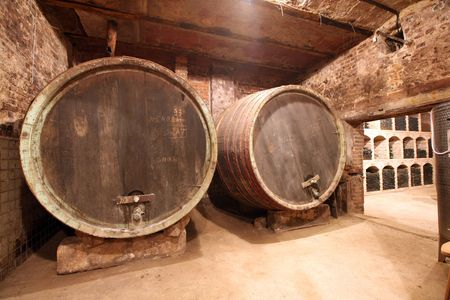 Shot of a wine cellar. photo