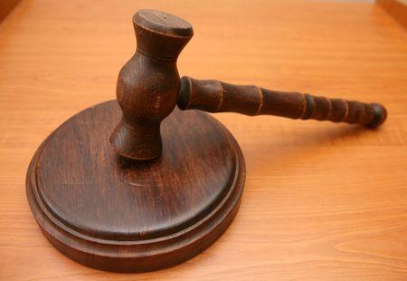Szepter für Auktionen oder Richter Satz-tool Standard-Bild