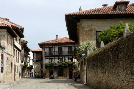 Santillana - small city on the north Spain Stock Photo