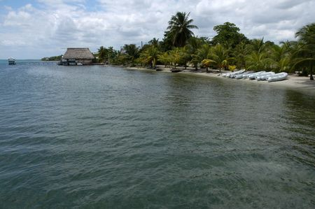 Beach in Placencia - Belize           Stock Photo