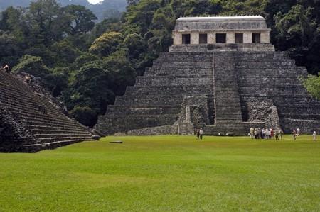 civilisation: Panorama of Palenque Stock Photo
