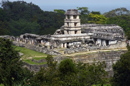 Panorama von Palenque Lizenzfreie Bilder