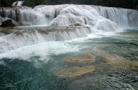azul: Waterfall Agua Azul Mexico