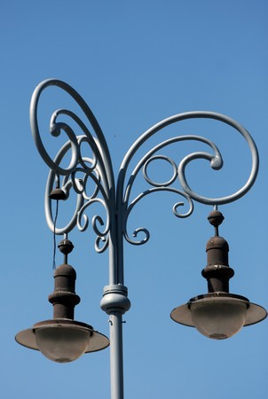 Old style street lamp in Brno photo