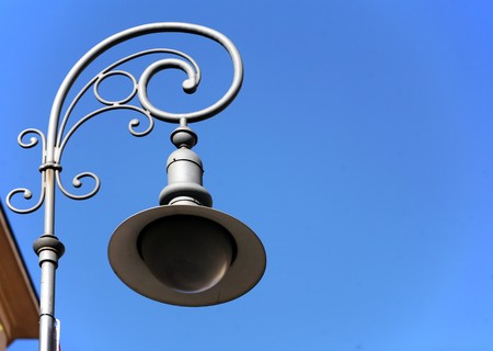 Detial of the old antique street lamp Stock Photo - 7406198