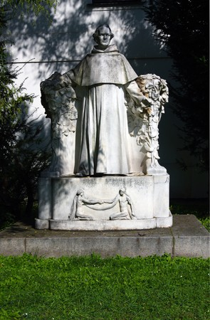 Sculpture of Josef Gregor Mendel in Brno