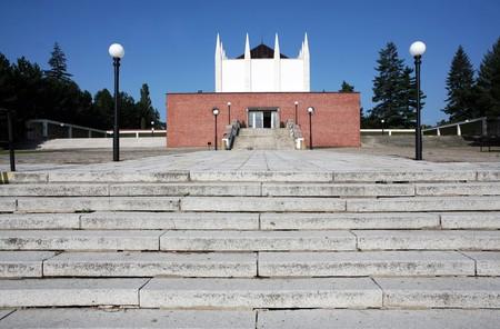 crematorium: Building of crematorium near central graveyard in Brno Stock Photo