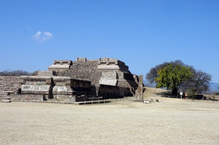 Ancient ruins on Monte Alban in Mexico photo