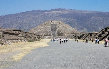 View of Pyramids in Teotihuacan in Mexico photo