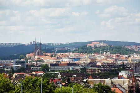 Panorama der Stadt Brünn in Tschechien Standard-Bild