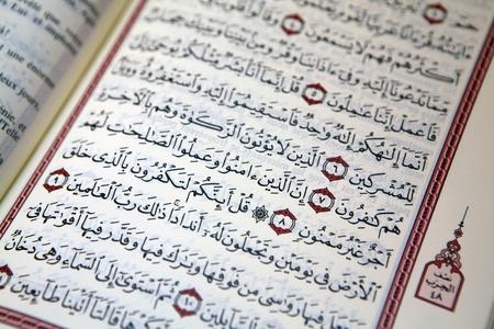 Seiten des Koran übersetzt Französisch Sprache