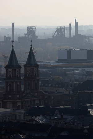 Smog over Ostrava in Czech Republik