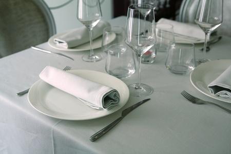 Vorbereitete Tisch zu essen