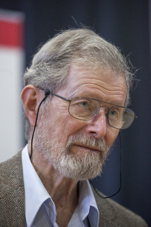 laureate: Nobel laureate professor Dr  George E  Smith visits Brno