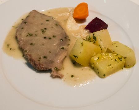 speciality: A detail of Austrian speciality Tafelspitz