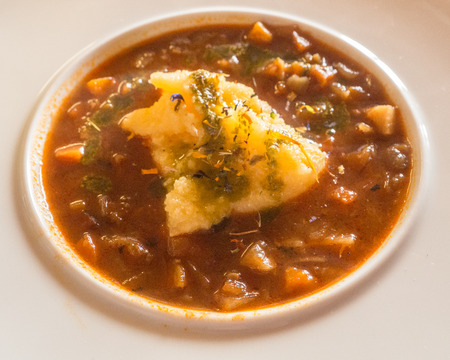 tirol: Potatoe soup from Seiser Alm, South Tirol