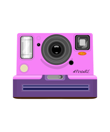 Vector drawing photo camera Illusztráció