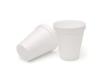 polystyrene foam cups Фото со стока