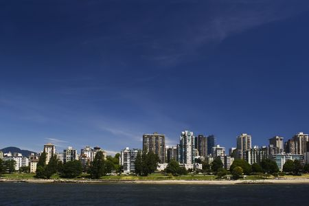 Beachfront apartments with green space photo