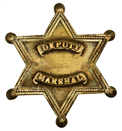 sheriff badge: Insignia de marshall de diputado en forma de estrella
