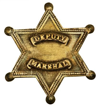 western usa: Star-shaped deputy marshall badge
