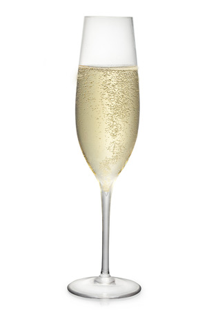 glass of the champagne wine photo