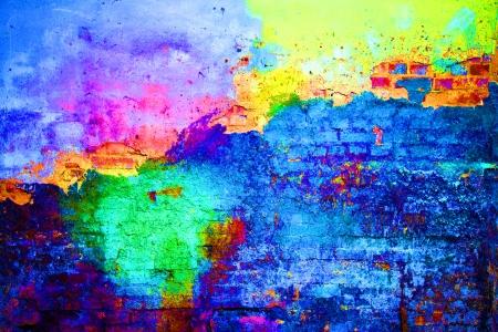 오래 된 페인트 벽