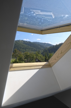 New open sunroof with view to the hills photo