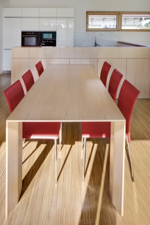 red chair: Beautiful new dining table for 6 people