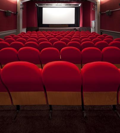 그림을 삽입 빨간색 영화 빈 프로젝션 스크린