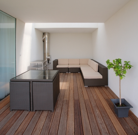 terrace of modern house Stock Photo - 23392536