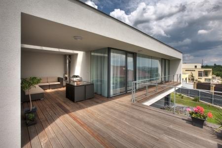 Terrasse Maison Banque D\'Images, Vecteurs Et Illustrations Libres ...