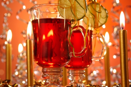 Hot wine punch Christmas popular hot drink photo