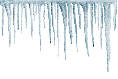 흰색 backgroun에 격리 된 고드름 스톡 콘텐츠