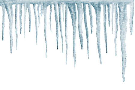 froze: icicles isolated on white backgroun