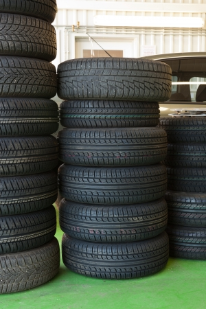 tires at tire service Stock Photo - 23333303