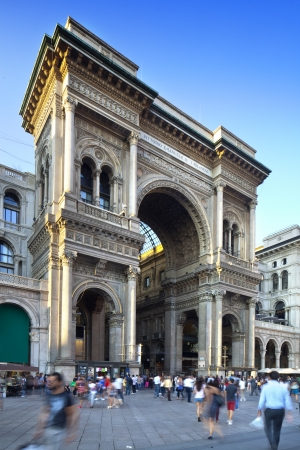 Galleria Vittorio Emanuele II in Milan Italy, famous shoping tourist and meeting place in the centre of city photo