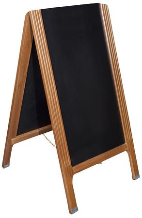 black board shop menu stand photo