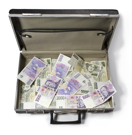 czech money, czech krown, ceska koruna in the case