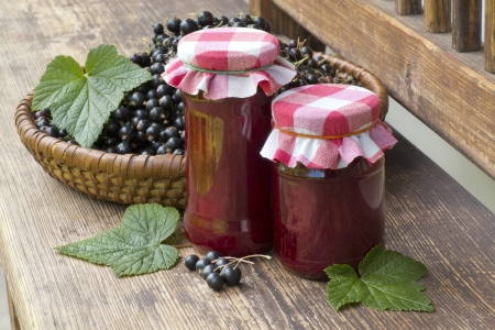 still life with jam and black currant