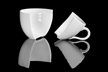 커피 브레이크, 깨진 커피 컵 스톡 콘텐츠