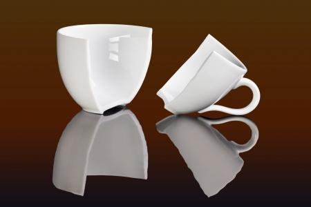 coffee break , broken coffee cups photo