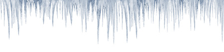 froze: icicles on white