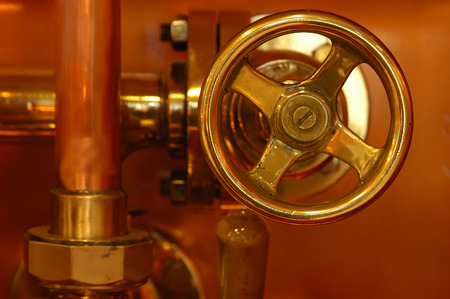 copper deatail of brewery technology control photo