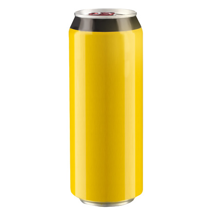 non alcoholic beer: can isolated on a white background with clipping path